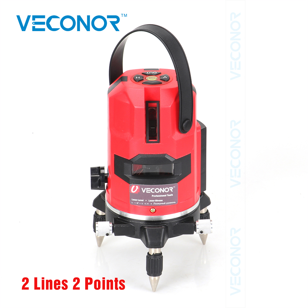 Veconor laser level 2 lines 2 points laser line projectors self leveling vertical horizontal line leveling tools