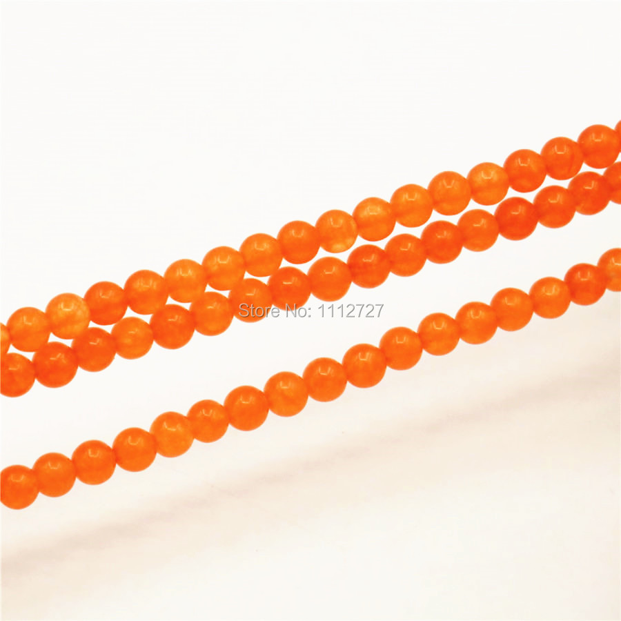 4-12mm Accessory Crafts Parts Orange Crafts Loose Beads Round Diy Semi Finished Stones Balls Gifts Jewelry Making 15inch Fitting
